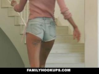 FamilyHookups - Teen Slut Emma Hix Loves Stepdads Cock