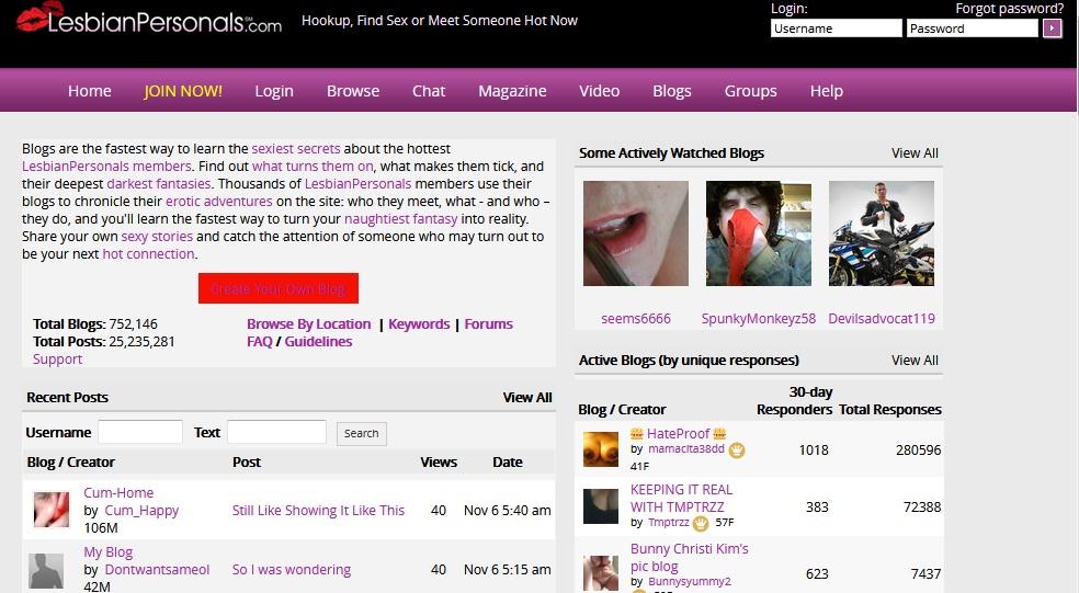 lesbian personals blog