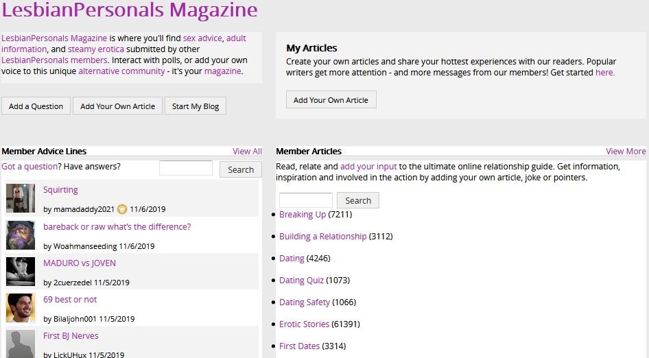 lesbian personals magazine