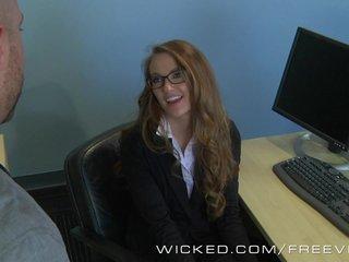 Wicked - Hot secretary Samantha Hayes fucks