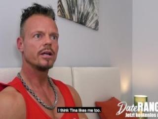 Brunette British Pornstar TINA KAY Fucks A VIRGIN while his Plushies are Watching - DATERANGER