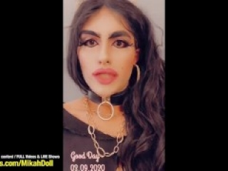 Arab Sissy Crossdresser MIKAH sucks her BIGGEST BBC Daddy Cock at Hotel Room - Sexy CD BJ