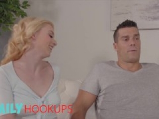 Family Hook Ups - Blonde Petite Stepdaughter Athena Rayne Gets Creampied By Her Stepdad