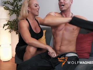 UK Big Tits Blond Busty Milf REBECCA JANE SMYTH Hookup with German Random Guy in London - WolfWagnerCom