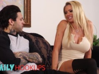 FamilyHookups - Busty Milf Briana Banks Caught Jilling On Couch By Her Horny Stepson
