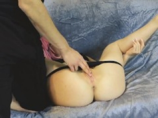 A young cutie Fucks with a stranger and gets a lot of cum inside the pussy.