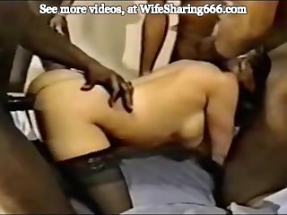 Slut Wife Used Completely and Filled with Cum
