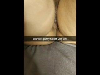 My cheating wife after sex lies on bed with a well fucked and deep creampied pussy [Cuckold. Snap]
