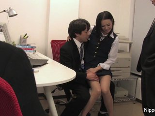 Office intern gets initiated by sucking cock