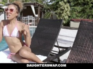 DaughterSwap - Small Ebony Teens Trade & Fuck Dads