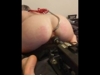 Blonde slave girl anal hooked and machine dildo fucked by Daddy | Snapchat Tales