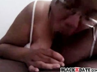 Thick black hookup sucks black dick and swallows