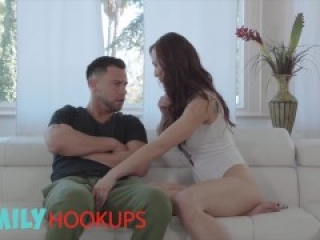 Family Hookups - Stepsister Aidra Fox makes a blackmail tape
