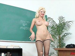 Big Tit Teacher Rewards Student
