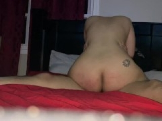 I fucked a complete stranger from tinder in my husband's bed and got nut all over my ass