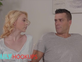 Family Hook Ups - Athena Rayne Gets Her Pussy Pounded By Her Stepdad's Hard Cock & Gets Creampied