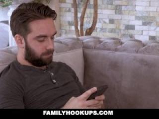 FamilyHookUps - Jealous Stepmom Sucks Stepsons Cock