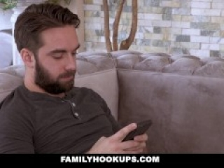 FamilyHookUps - Jealous Stepmom Sucks Stepsons Cock