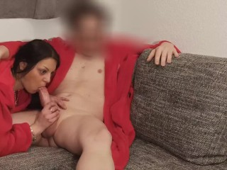 A fan found me on Tinder, so I visited him at home and sucked his big cock