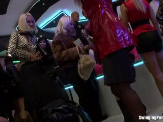 Sexy pornstars dancing and fucking in club