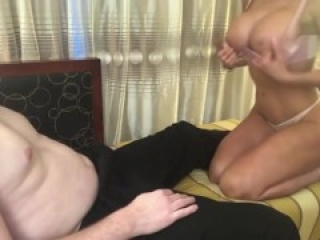 Nicolette Shea Big Boobs Sister gives Amazing Tits Fuck, Blowjob, Handjob