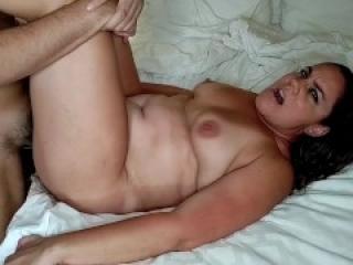 Brunette wife fucked by stranger in random hotel hook up