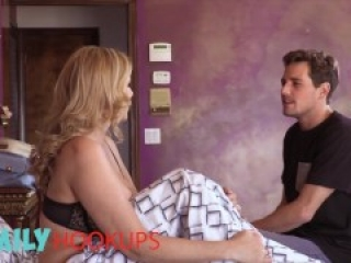 FamilyHookups - Busty Mom Julia Ann Craves Her Step Son's Hard Cock In Her Wet Milfy Pussy