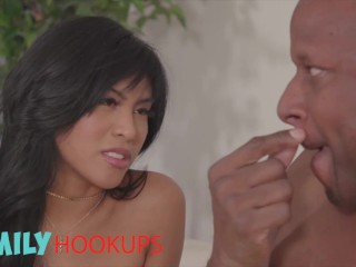 Family Hook Ups - Hot Teen Ember Snow Gets Her Pussy Pounded By Her Stepdad Bbc