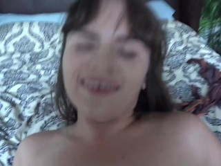 Amateur (Rose Lynn) Hooking up POV sucking and fucking (includes footjob and creampie)