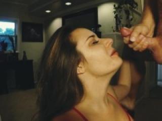 Hot Real Amateur MILF Tinder Hookup Sucks and Takes My Huge Facial