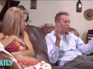 Family Hooukps - Kinky Blonde Teen Paisley Rae Fucks Her Stepdad While Mom Is Not Home