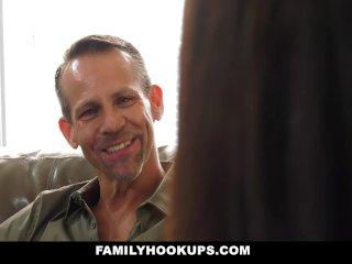 FamilyHookUps - Virgin Teen Fucks Dads Friend