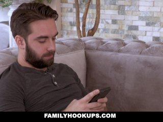 FamilyHookUps - Horny Stepmom Swallows Stepsons Cum