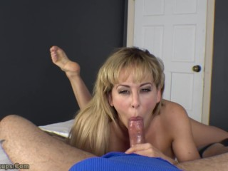 Fun Sex at Home with Cherie DeVille | Handjob, Footjob, Blowjob, Creampie
