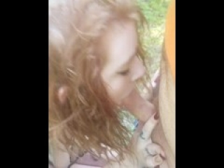 Red Head Tinder Hookup In public (outdoor fucking)
